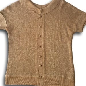 Vintage 1920s-1930s Gold Lame Sweater